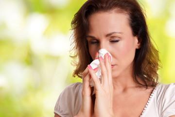 Erkältung Frau