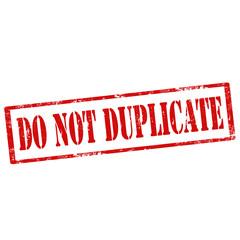 Do Not Duplicate-stamp