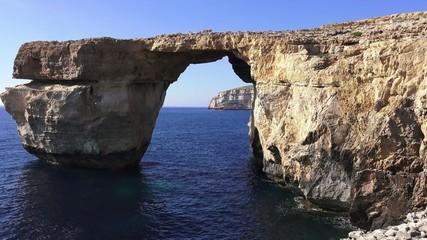 Gozo Azure Window Height, Malta Islands