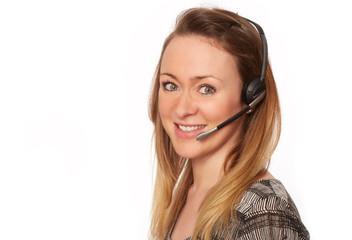 Junge Frau mit Headphone