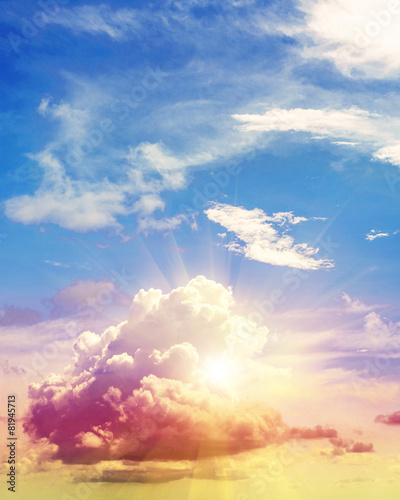 Foto op Canvas Landschappen Art summer background