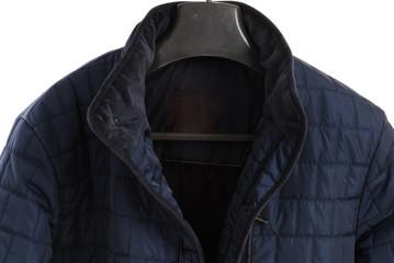 winter jacket isolated on white background. Men fashion coat.