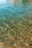 Pebbles seen through clear water