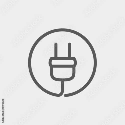 Electrical plug thin line icon - 81946316