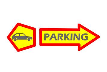 Car parking tag - vector illustration.