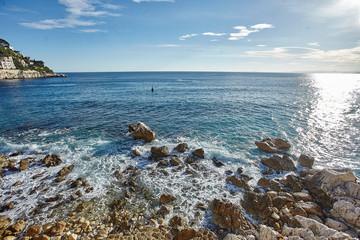 Waves of Mediterranian sea