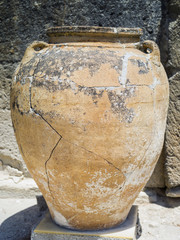 old amphora on Crete in Greece
