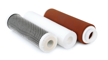 Three water filter cartridges