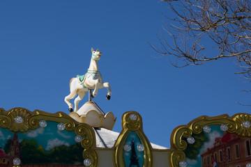 Vintage fairground merry-go-round ride