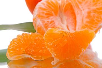 Juicy slices of mandarin
