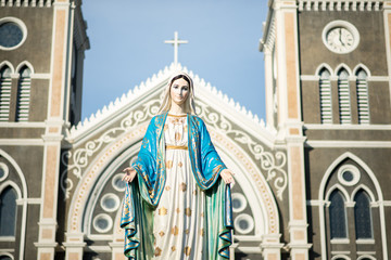 the Blessed Virgin Mary, the mother of Jesus.