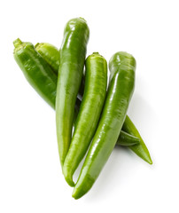 fresh green chili peppers