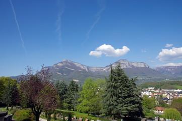 vue panoramique sur la cluse de chambéry
