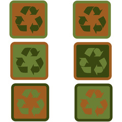 Recycling sign flat design