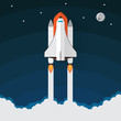 Space Shuttle Launch. Vector illustration - 81951599