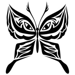 Stylized image of butterfly icon