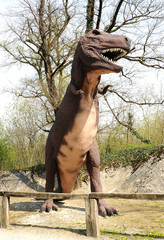 Model of Tarbosaurus Dinosaur Outdoors