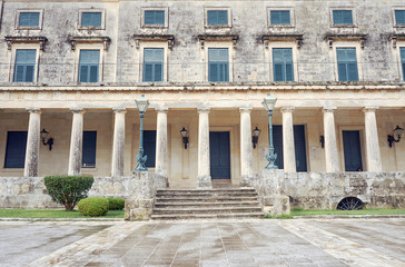 Palace of St. Michael and St. George on the island of Corfu