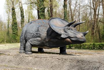 Model of Triceratops Dinosaur Outdoors