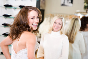 Bride: Woman Excited Over Wedding Gown