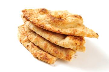 Naan bread wedges