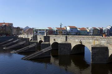 The oldest stone bridge in central Europe, Pisek, Czech Republic
