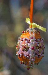 Easter eggs on the tree