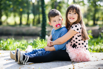 Young Brother and Sister