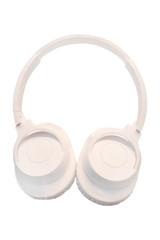 White headphones isolated under the white background