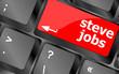 Постер, плакат: Steve Jobs button on keyboard life concept vector