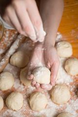 dough balls  wheat flour