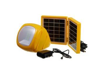 Led flashlight with mini solar panel