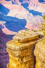 Grand Canyon sunny day with blue sky