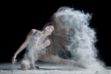 dancer and flour
