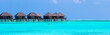 Water villas, bungalows on ideal perfect tropical island - 81958315
