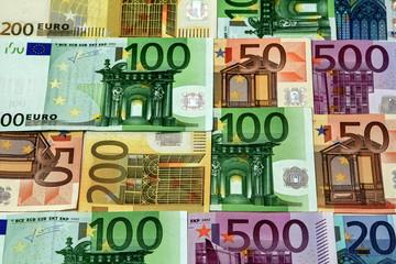 Euroscheine 500, 100, 50, 20 Euro Banknoten