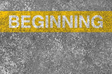 Beginning line