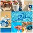 collage maintenance of a private pool - 81959350