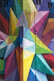 Colorful Graffiti detail on the textured wall - 81959998