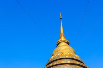 Pra That Lampang Luang, the famous ancient buddhist temple locat
