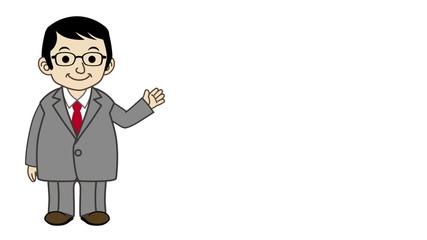 Businessman explaining-Isolated