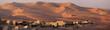 Leinwandbild Motiv Blockhouse in the desert