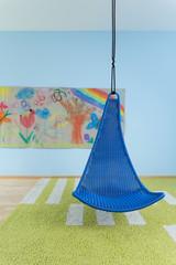 Indoor swing in child's room