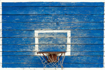 wooden board for basketball in the street