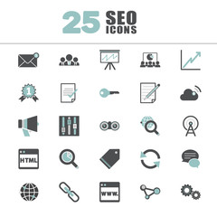 Search Engine Optimisation Information Content Icon Concept