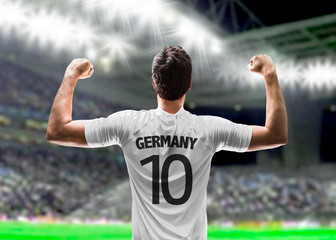 German soccer player in the stadium