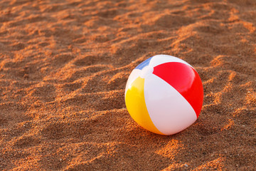 ball on the beach