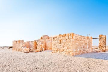 Qasr Amra in eastern Jordan, about 85 km east of Amman