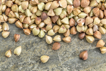 buckwheat grain background
