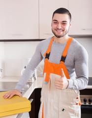 Portrait of handsome skilled workman